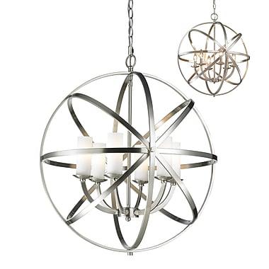 Z-Lite – Luminaire suspendu Aranya 6017-6L-BN, 6 ampoules, opale mate