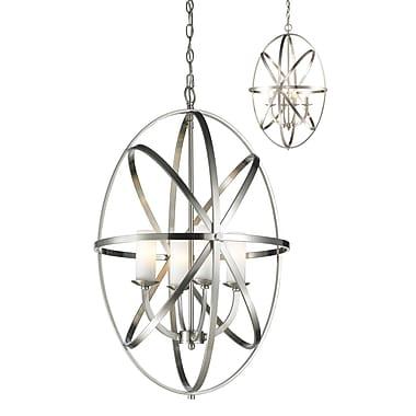 Z-Lite – Luminaire suspendu Aranya 6027-4L-BN, 4 ampoules, opale mate