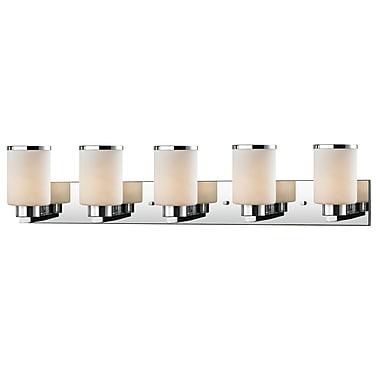 Z-Lite – Applique murale pour salle de bain Roxburgh 707-5V-CH, 5 ampoules, opale mate