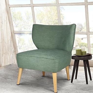 AdecoTrading Leisure Slipper Chair; Green