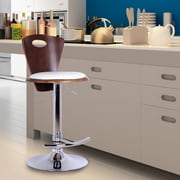 AdecoTrading Adjustable Height Swivel Bar Stool; White