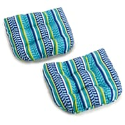 Blazing Needles Pike Outdoor Adirondack Chair Cushion (Set of 2)