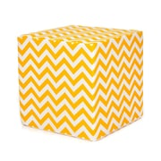 Sweet Potato by Glenna Jean Swizzle Decorative Pouf Ottoman; Yellow