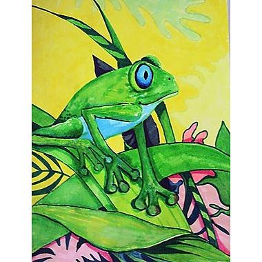 Caroline's Treasures Summer Daze Frog Vertical Flag
