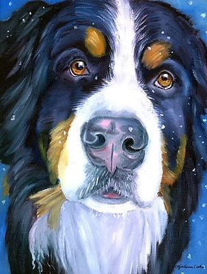 Caroline's Treasures Luca The Bernese Mountain Dog Vertical Flag