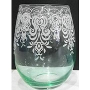 Style Setter Lace Stemless Wine Glass (Set of 2)