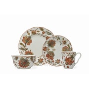 222 Fifth Winter Floral Red 16 Piece Dinnerware Set