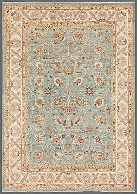 Pasargad Ferehan Hand-Knotted Light Blue Area Rug