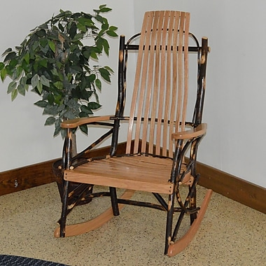 A&L Furniture Hickory Rocking Chair; Natural