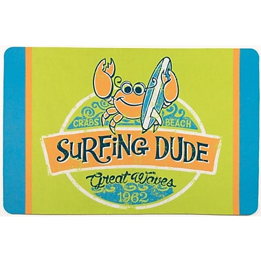 Island Girl Home Surfer Crab Surfing Dude Floor Mat