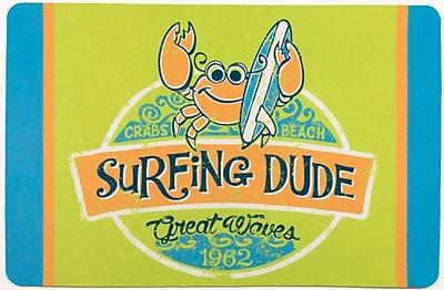 Island Girl Home Surfer Crab Surfing Dude Floor Mat