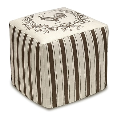 123 Creations Rooster Cube Ottoman