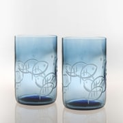 Rolf Glass Blue Fish 14 Oz. Tumbler (Set of 4)