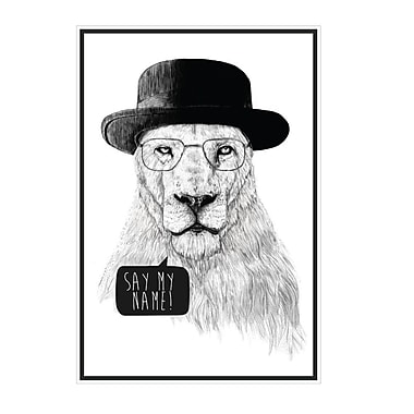 My Wonderful Walls Mr. White Breaking Bad Lion Wall Decal; Large