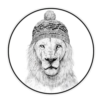 My Wonderful Walls Winter is Coming Lion Wall Decal; Small