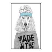 My Wonderful Walls 80s Girl Standard Poodle Wall Decal; Extra Large