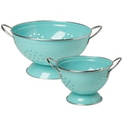 Now Designs 2 Piece Stainless Steel Colander Set; Turquoise
