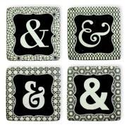 Boston International Ampersands Resin Coaster (Set of 4)
