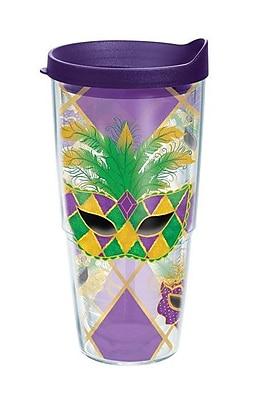 Tervis Tumbler Celebrate Life Mardi Gras Plastic Travel Tumbler; 24 oz.