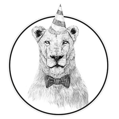 My Wonderful Walls Get the Party Started Lion Wall Decal; Large