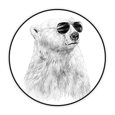 My Wonderful Walls Don t Let the Sun Go Down by Bal zs Solti Polar Bear Wall Decal; Extra Large