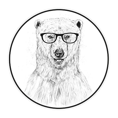 My Wonderful Walls Geek Bear Polar Bear Wall Decal; Small