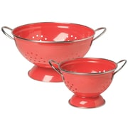 Now Designs 2 Piece Stainless Steel Colander Set; Red