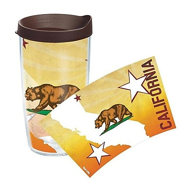 Tervis Tumbler American Pride California Flag Colossal Plastic Travel Tumbler; 16 oz.
