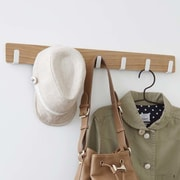 Yamazaki USA 7 Hook Overdoor Wall Mounted Coat Rack; Beige / White