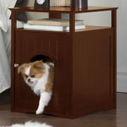Merry Products Allen Litter Box End Table; Walnut