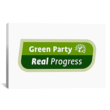 iCanvas Political 'Green Party Symbol' Textual Art on Canvas; 40'' H x 60'' W x 1.5'' D