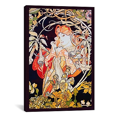 iCanvas 'Ivy' by Alphonse Mucha Painting Print on Canvas; 26'' H x 18'' W x 0.75'' D
