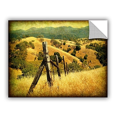 ArtWall Weathered Ranch Fence Wall Mural; 14'' H x 18'' W x 0.1'' D