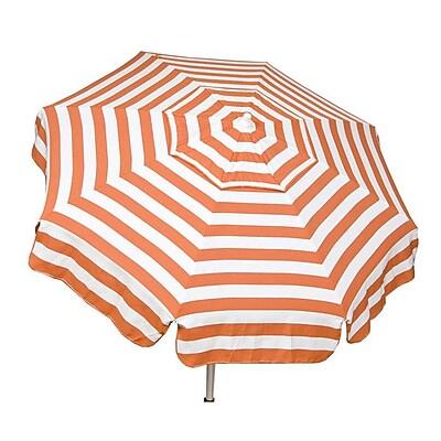 Parasol Italian 6' Drape Umbrella; Orange / White