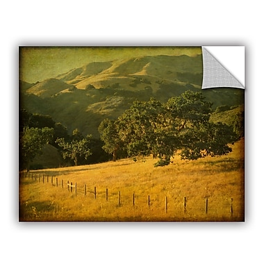 ArtWall Oak And Fence Wall Mural; 24'' H x 32'' W x 0.1'' D