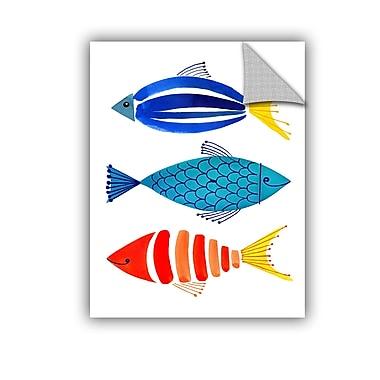 ArtWall Summer Fish Trio Wall Mural; 24'' H x 18'' W x 0.1'' D