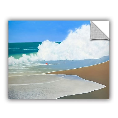 ArtWall Red Pail In The Sand Wall Mural; 14'' H x 18'' W x 0.1'' D