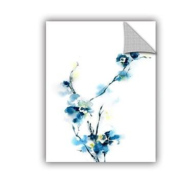 ArtWall Blue Blossoms Wall Mural; 24'' H x 18'' W x 0.1'' D