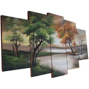 Designart Changing Seasons Canvas, Large Nature Wall Art, (OL1073)