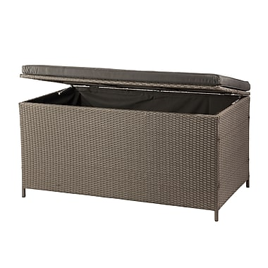 Patioflare PF-AC-234C-BR Tuck Wicker Deck Box, 155 cu. Ft., 4400 Liters, Ash Brown
