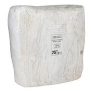 Chiffons recyclés, sac de 25 lb, coton blanc, 3/paquet