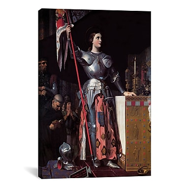 iCanvas 'Joan of Arc' by Jean Auguste Ingres Painting Print on Canvas; 12'' H x 8'' W x 0.75'' D