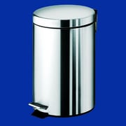 Gedy by Nameeks Argenta 2.83 Gallon Step-On Metal Trash Can