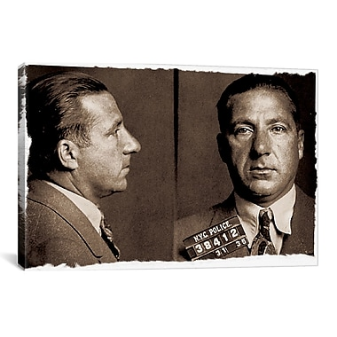 iCanvas Frank Costello - Gangster Mugshot Photographic Print on Canvas; 8'' H x 12'' W x 0.75'' D