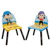 Fantasy Fields Pirates Island 2 Piece Kids Desk Chair Set (Set of 2)