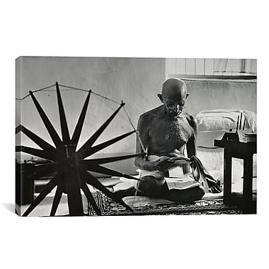 iCanvas Political Mahatma Gandhi Photographic Print on Canvas; 26'' H x 40'' W x 0.75'' D