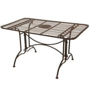 Oriental Furniture Dining Table; Rust Patina