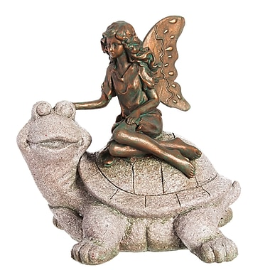 Evergreen Enterprises, Inc Fairy with Turtle Statue