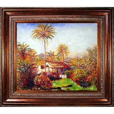 Tori Home Small Country Farm in Bordighera by Claude Monet Framed Painting Print