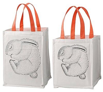 Bloomingville Sleeping Animal 2 Piece Storage Bag w/ Handles Set WYF078278673485